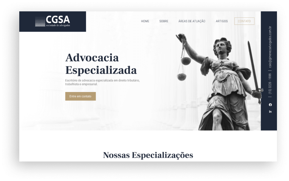 Criação de Sites - CGSA