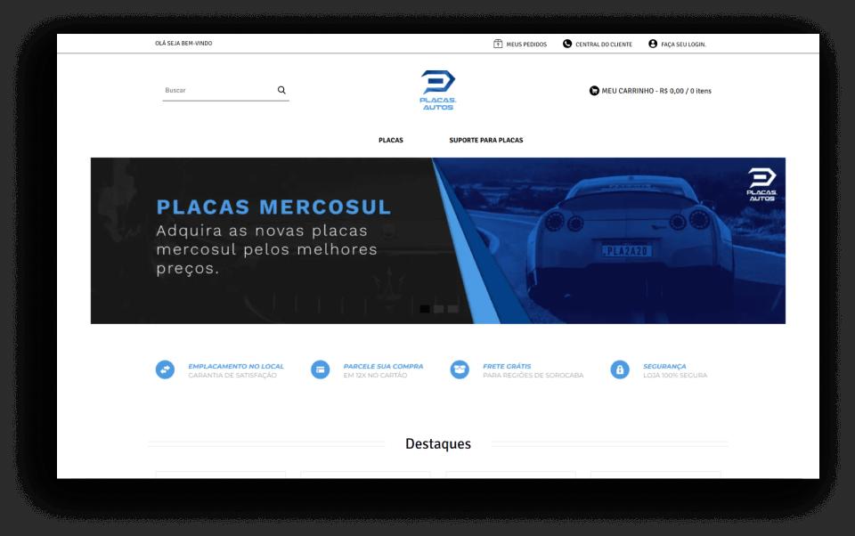Site ou Loja Virtual - Exemplo de loja virtual