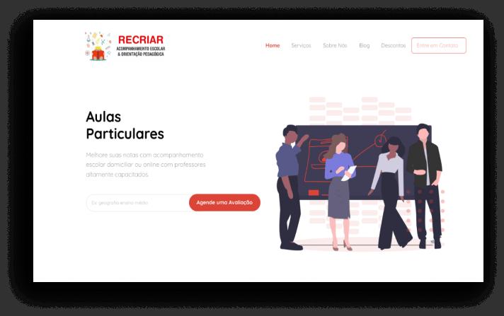 Criação de Sites - Recriar Pedagógico