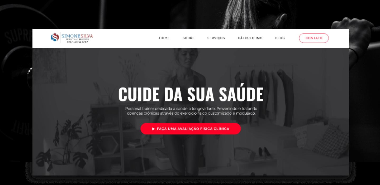 Site Institucional - Simone Silva Personal