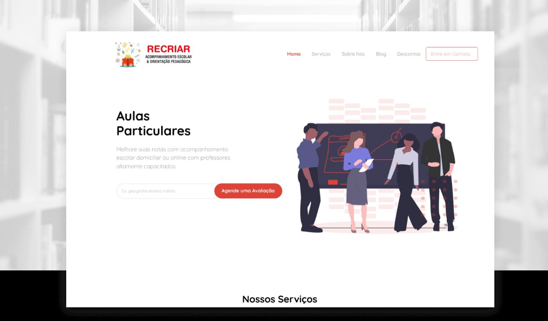 Site Institucional - Recriar Pedagógico