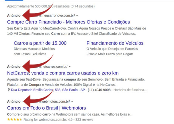 Google Ads ou Facebook Ads: Lista pesquisa