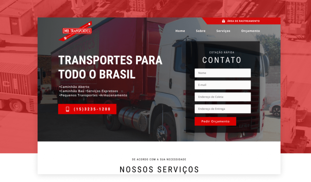 Site ou loja virtual: Exemplo de Site Institucional