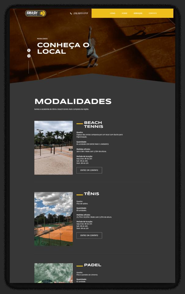 Smash Center - Modalidades