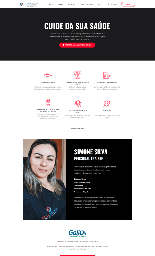 Simone Personal - Tela 1