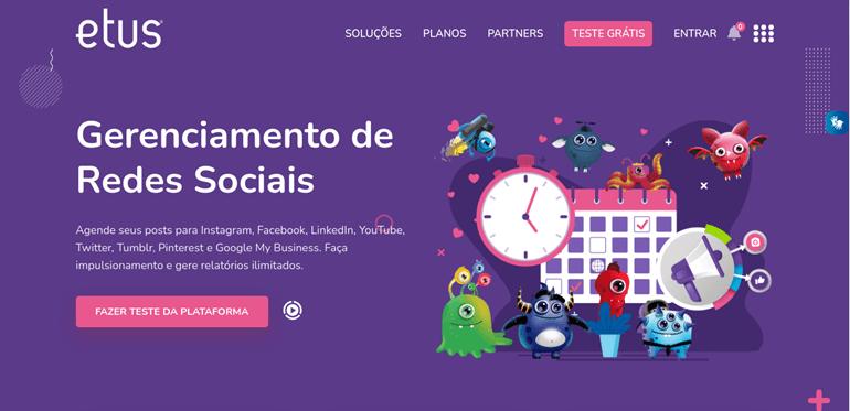 Etus: Ferramenta para programar nas redes sociais